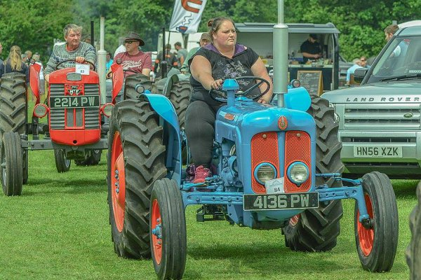 Lady Driving Tractor